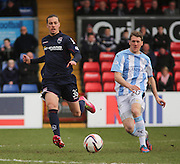 Dundee's Jim McAlister and Ross County's Jackson Irvine - Ross County v Dundee, SPFL Premiership at The Global Energy Stadium<br /> <br />  - &copy; David Young - www.davidyoungphoto.co.uk - email: davidyoungphoto@gmail.com