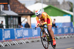 Sara Martin Martin at UCI Road World Championships Junior Women's Individual Time Trial 2017 a 16.1 km time trial in Bergen, Norway on September 18, 2017. (Photo by Sean Robinson/Velofocus)