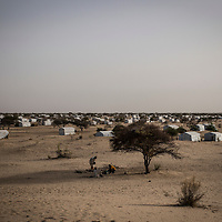 Dar Es Salam refugee camp, Lake region, Chad. <br /> <br /> Since Boko Haram attacks, in January 2015, in and around the northeastern Nigerian town of Baga, more than 18,000 Nigerian refugees have sought refuge in Chad, many of them in the small islands scattered in the Lake. The volatile security conditions in and around the islands scattered in Lake Chad and difficult access to these areas prompted the Government of Chad to allocate the site of Dar Es Salam, located some 12 km from Bagasola, for the accommodation of Nigerian refugees. Today according to UNHCR 4,960 Nigerian refugees are accommodated in Dar Es-Salam camp. The others are scattered on the small islands of the Lake.<br /> <br /> Sylvain Cherkaoui/Cosmos for MSF