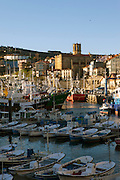 A view of the fishing port of Getaria.
