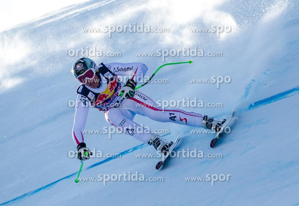 26.01.2013, Streif, Kitzbuehel, AUT, FIS Weltcup Ski Alpin, Abfahrt, Herren, im Bild  Hannes Reichelt (AUT) // Hannes Reichelt of Austria in action during mens Downhill of the FIS Ski Alpine World Cup at the Streif course, Kitzbuehel, Austria on 2013/01/26. EXPA Pictures © 2013, PhotoCredit: EXPA/ Juergen Feichter