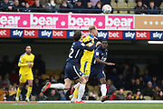 AFC Wimbledon midfielder Mitchell (Mitch) Pinnock (11) battles for possession during the EFL Sky Bet League 1 match between Southend United and AFC Wimbledon at Roots Hall, Southend, England on 16 March 2019.