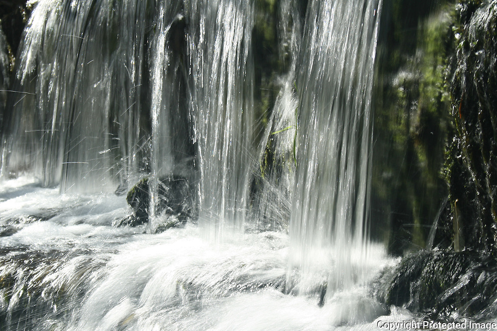 Falling water in a mountain stream in Owasco Inlet, Upstate New York