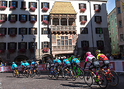 26.09.2018, Innsbruck, AUT, UCI Straßenrad WM 2018, Herren, Training, im Bild Team Kolumbien beim Training, Strassenrennen // team Columbia during the men's practice trial of the UCI Road World Championships 2018. Innsbruck, Austria on 2018/09/26. EXPA Pictures © 2018, PhotoCredit: EXPA/ Reinhard Eisenbauer