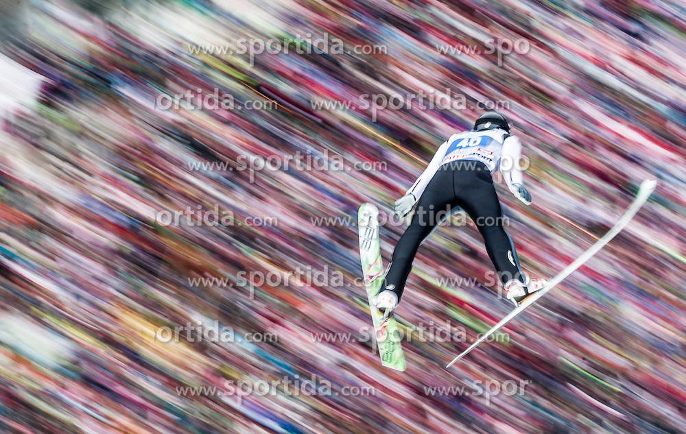04.01.2014, Bergisel Schanze, Innsbruck, AUT, FIS Ski Sprung Weltcup, 62. Vierschanzentournee, Bewerb, im Bild Peter Frenette (USA) // Peter Frenette (USA) during Competition of 62nd Four Hills Tournament of FIS Ski Jumping World Cup at the Bergisel Schanze, Innsbruck, Austria on 2014/01/04. EXPA Pictures © 2014, PhotoCredit: EXPA/ JFK