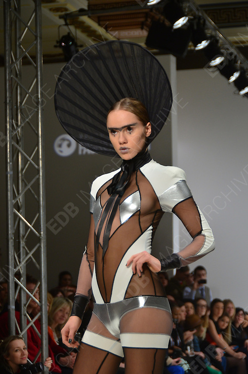 19.FEBRUARY.2012. LONDON<br /> <br /> PAM HOGG SHOW LFW<br /> <br /> BYLINE: EDBIMAGEARCHIVE.COM<br /> <br /> *THIS IMAGE IS STRICTLY FOR UK NEWSPAPERS AND MAGAZINES ONLY*<br /> *FOR WORLD WIDE SALES AND WEB USE PLEASE CONTACT EDBIMAGEARCHIVE - 0208 954 5968*