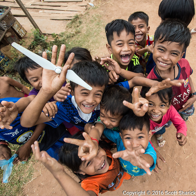 When I finished flying my drone in a remote Cambodian village I gave the kids one of my used propellers as a souvenir.