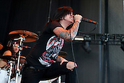 Escape the Fate performing at the Verizon Wireless Amphitheater in Noblesville, IN on the 2011 Uproar Tour on September 17, 2011