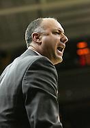 24 JANUARY 2007: Penn State head coach Ed DeChellis yells in Iowa's 79-63 win over Penn State at Carver-Hawkeye Arena in Iowa City, Iowa on January 24, 2007.