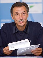 Miha Zibrat of DSNS at the press conference of OKS and DSNS,  on October 12, 2009, in Tivoli, Ljubljana, Slovenia.   (Photo by Vid Ponikvar / Sportida)