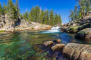 Cascade on the Tuolumne River, Tuolumne Meadows, Yosemite National Park, California USA