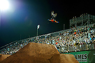 Kyle Baldock during BMX Dirt Finals at the 2013 X Games Foz do Iguacu in Foz do Iguaçu, Brazil. ©Brett Wilhelm/ESPN