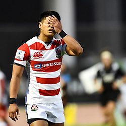 Kyohei Yamasawa of Japan looks dejected during the U20 World Championship match between New Zeland and Japan on May 30, 2018 in Narbonne, France. (Photo by Alexandre Dimou/Icon Sport)