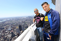 June 2, 2014: Miguel Cotto & Sergio Martinez at the Empire State Building