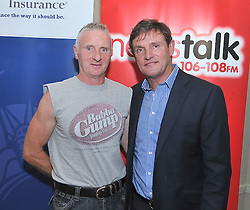 Pictured at the Newstalk Off the Ball Roadshow in association with Liberty Insurance live from the Knockranny House Hotel Westport, on thursday last with Tommy Moran from Aghamore with guest Kevin Moran .<br /> Pic Conor McKeown