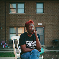 East Chicago, Indiana<br /> <br /> Sherry Hunter grew up in the West Calumet Housing Complex and now owns a home in neighboring zone two. The EPA has classified three zones of concern related to the 79-acre superfund site where a USS Lead facility once stood.<br /> <br /> Now an activist in the Calumet Lives Matter movement, Hunter said she's most concerned for senior citizens who are struggling to find new homes. &quot;They don't know where to go. They weren't given an option,&quot; she said. &quot;People should have a right to say what they want to do.&quot;<br /> <br /> ||||<br /> <br /> The West Calumet Housing Complex, which is currently home to about 1,200 people, is located on a 79-acre Environmental Protection Agency Superfund site where a USS Lead facility was located in East Chicago, Indiana. Up until 1985, a lead refinery, a copper smelter and a secondary lead smelter were also in the area. The houses were built between the late 1960s and early 1970s.<br /> <br /> East Chicago is zoned close to 80 percent heavy industrial, and the local government relies on the patronage, jobs and tax revenue that the oil and steel industries bring. However, many jobs disappeared when the steel industry modernized and shifted overseas in the late 20th century, leading to extensive job loss for the working class. People there have a long, complicated relationship with industry -- and its environmental legacy will affect generations to come.<br /> <br /> Photo by Alyssa Schukar