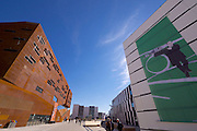 Vienna, Austria. Opening Day of the new WU Campus (University of Economics).<br /> D1 (Departments 1) and TC (Teaching Center) by BUSarchitektur, Vienna.