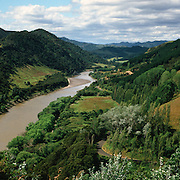 The Whanganui River which runs through the Whanganui National Park in the Manawatu-Wanganui of the North Island of New Zealand Photo Tim Clayton