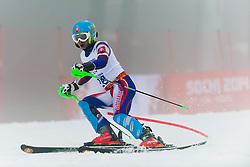 Jakub KRAKO competing in the Alpine Skiing Super Combined Slalom at the 2014 Sochi Winter Paralympic Games, Russia