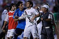 20091202: RIO DE JANEIRO, BRAZIL - South-American Cup 2009, Final: Fluminense vs LDU Quito. In picture: Fred (Fluminense, C) protesting against the referee. PHOTO: CITYFILES