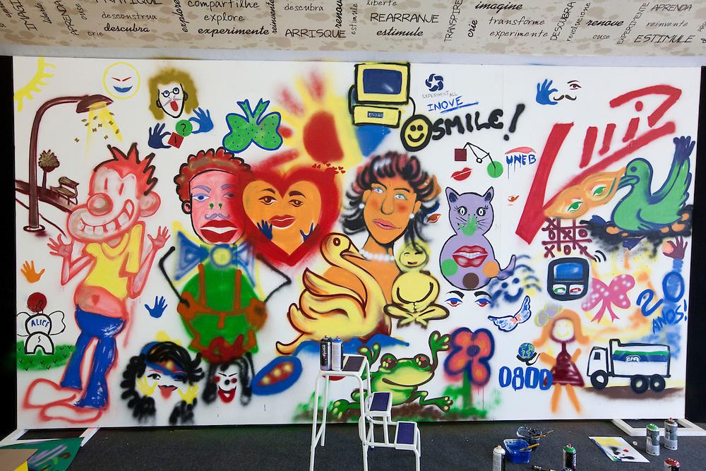 Nova Lima_MG, Brasil...Detalhe de grafite em uma parede...Graffiti art on the wall...Foto: NIDIN SANCHES / NITRO