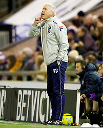 OLDHAM, ENGLAND - Saturday, February 16, 2013: Oldham Athletic's caretaker manager Tony Philliskirk during the FA Cup 5th Round match against Everton at Boundary Park. (Pic by Vegard Grott/Propaganda)