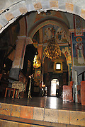 The interior of the Greek Orthodox Church of the Annunciation, the Church of St. Gabriel, Nazareth, Israel