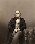 James Wilson (1805-1860) British politician and economist born at Hawick, Scotland. Liberal Member of Parliament for Westbury, Wiltshire, 1847.  Campaigner for Free Trade. Founder of the magazine 'The Economist' in 1834.  Engraving from 'The Illustrated News of the World' (London, c1860).