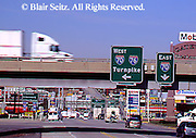 Southwest PA, intersection Interstates 76 and 70, Breezewood, Pennsylvania