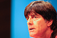 Germany manager Joachim Low at the Germany press conference at Maracana Stadium, Rio de Janeiro, ahead of tomorrow's World Cup FInal. <br /> Picture by Andrew Tobin/Focus Images Ltd +44 7710 761829<br /> 12/07/2014