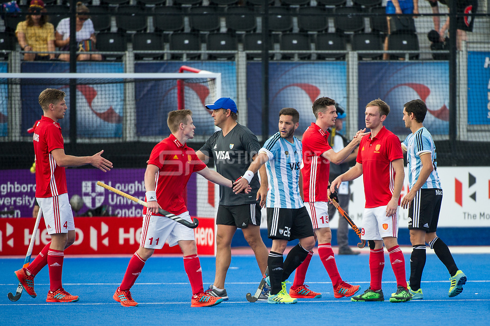 England v Argentina - Hockey World League Semi Final, Lee Valley Hockey and Tennis Centre, London, United Kingdom on 18 June 2017. Photo: Simon Parker