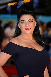 Image ©Licensed to i-Images Picture Agency. 12/08/2014. London, United Kingdom. <br /> Lucy Kay attends the What If - UK film premiere. Leicester Square. Picture by Chris Joseph / i-Images