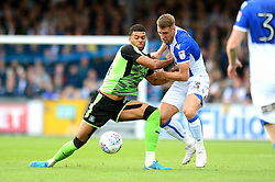 Jake Jervis of Plymouth Argyle jostles for the ball with Lee Brown of Bristol Rovers - Mandatory by-line: Dougie Allward/JMP - 30/09/2017 - FOOTBALL - Memorial Stadium - Bristol, England - Bristol Rovers v Plymouth Argyle - Sky Bet League One