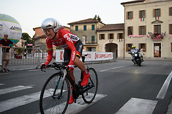 Emma Pooley (Lotto Soudal) at Giro Rosa 2016 - Prologue. A 2 km individual time trial in Gaiarine, Italy on July 1st 2016.