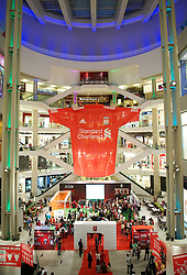 KUALA LUMPUR, MALAYSIA - Friday, July 15, 2011: The Standard Chartered Liverpool fan event at the Pavillion Shopping Centre on day five of the club's Asia Tour. (Photo by David Rawcliffe/Propaganda)