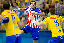 Joan Reixach Canellas of Atletico Madrid during handball match between RK Celje Pivovarna Lasko and BM Atletico Madrid in 2nd Round of Group B of EHF Champions League 2012/13 on October 6, 2012 in Arena Zlatorog, Celje, Slovenia. Atletico Madrid defeated Celje Pivovarna Lasko 28-22. (Photo By Vid Ponikvar / Sportida)