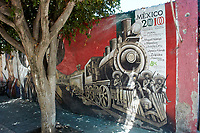 Mural of Mexican Revolutionaries, Mexico, Ajijic, Jalisco, Mexico.