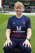 Lancashire Thunders Georgie Boyce during the Lancashire County Cricket Club at the Emirates, Old Trafford, Manchester, United Kingdom on 3 April 2019.