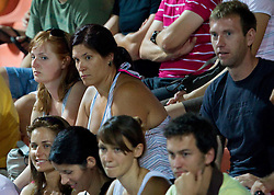 Spectators watch match Jelena Jankovic of Serbia vs Anastasija Jakimova at 2nd Round of Singles at Banka Koper Slovenia Open WTA Tour tennis tournament, on July 22, 2010 in Portoroz / Portorose, Slovenia. (Photo by Vid Ponikvar / Sportida)