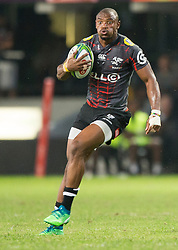 DURBAN, SOUTH AFRICA - APRIL 21: Makazole Mapimpi of the Cell C Sharks during the Super Rugby match between Cell C Sharks and DHL Stormers at Jonsson Kings Park on April 21, 2018 in Durban, South Africa. Picture Leon Lestrade/African News Agency/ANA