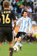 CAPE TOWN, SOUTH AFRICA- Saturday 3 July 2010, Lionel Messi during the quarter final match between Argentina and Germany held at the Cape Town Stadium in Green Point during the 2010 FIFA World Cup..Photo by Roger Sedres/Image SA
