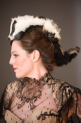 The Animal Ball..This years Animal Ball which brings the glamour and splendour of a masked soiree to the heart of London will benefit the charity Elephant Family with masks created by the likes of Christian Lacroix, Mario Testino and Swarovski. Pic Shows Natalie Ellner wearing her creation 'Prince Badger. The masks will be on show at Sotheby's until May 15th, London, UK, May 10, 2013. Photo by:  i-Images