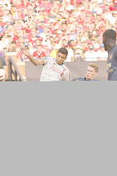 July 28, 2018 - Ann Arbor, MI, U.S. - ANN ARBOR, MI - JULY 28: Liverpool Forward Marko Grujic (16) and Manchester United Midfielder Scott McTominay (39) fight for possession in the ICC soccer match between Manchester United FC and Liverpool FC on July 28, 2018 at Michigan Stadium in Ann Arbor, MI. (Photo by Allan Dranberg/Icon Sportswire) (Credit Image: © Allan Dranberg/Icon SMI via ZUMA Press)