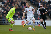 MK Dons Midfielder Jonny Williams during the Sky Bet Championship match between Milton Keynes Dons and Brighton and Hove Albion at stadium:mk, Milton Keynes, England on 19 March 2016. Photo by Dennis Goodwin.