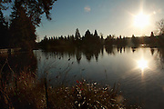 Crystal Springs Lake in Golden Hour