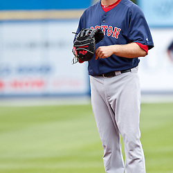 March 6, 2011; Port St. Lucie, FL, USA; Boston Red Sox first baseman Lars Anderson (78) before a spring training exhibition game against the New York Mets at Digital Domain Park.  Mandatory Credit: Derick E. Hingle