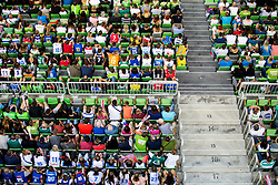 Supporters during basketball match between National teams of Slovenia and Turkey in Round #8 of FIBA Basketball World Cup 2019 European Qualifiers, on September 17, 2018 in Arena Stozice, Ljubljana, Slovenia. Photo by Urban Urbanc / Sportida