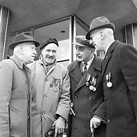 R4373<br /> 1916 Commemoration in 1966. Pictured are John Hendrick, P. Cullen, P. Dutton and Jim Finlay. April 3 1966.<br /> (Part of the NPA and Independent Newspapers)