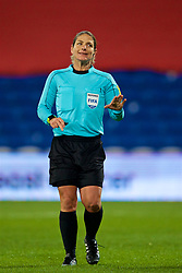 CARDIFF, WALES - Friday, November 24, 2017: Referee Simona Ghisletta during the FIFA Women's World Cup 2019 Qualifying Round Group 1 match between Wales and Kazakhstan at the Cardiff City Stadium. (Pic by David Rawcliffe/Propaganda)