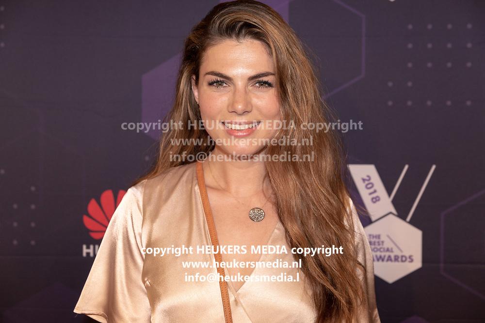 B. Amsterdam. Best Social Awards 2018. Op de foto: Lisa Michels